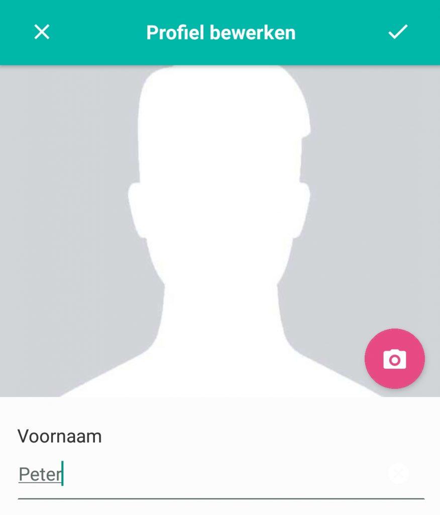Profielfoto bewerken